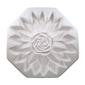 "Casting mal, 9"" Rose Floral Form / Colour de Verre (uitlopend)"