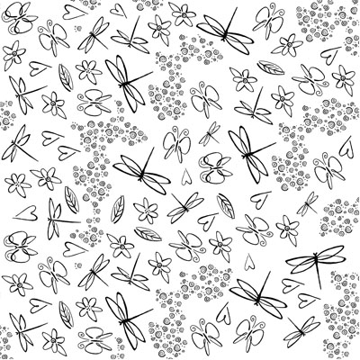 Decal Profusion Bugs and Flowers / Gold