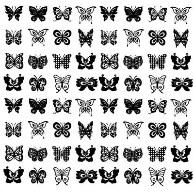 Decal Profusion Butterflies / Gold