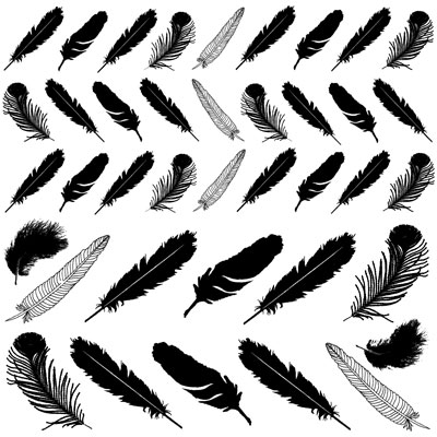 Decal Profusion Feathers / Gold