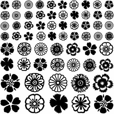 Decal Profusion Flowers 2 / Gold