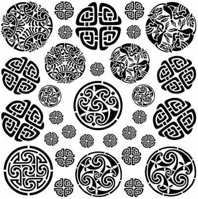 Decal Profusion Celtic 1 / Gold