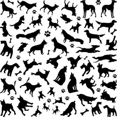 Decal Profusion Dogs / Black
