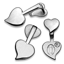 Heart Bails Double - Medium Silver DSHBM / Aanraku®