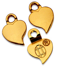 Heart Earring Bails - Small Gold GEHS / Aanraku®